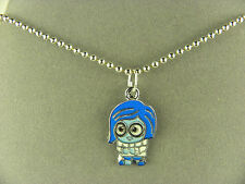 SWEET & CUTE  SADNESS  FROM INSIDE OUT METAL CHARM NECKLACE WITH BEAD CHAIN