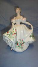 ATTRACTIVE ROYAL DOULTON FIGURE/FIGURINE HN3412 WILDFLOWER OF THE MONTH DECEMBER