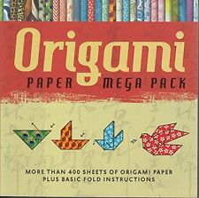 """Origami Paper Mega Pack 400+ Sheets Origami Paper with Basic Instructions 6""""X6"""""""