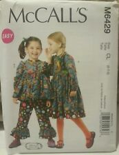 M6429 New McCall's Easy Girls Fashion Sewing Patterns For Sizes 6, 7, 8