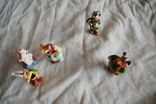 LOT 5 FIGURINES KINDER ASTÉRIX  OBÉLIX PANORAMIX ABRARACOURCIX SOLDAT ROMAIN
