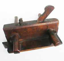 Vintage Wooden Wedge Arm Plough Plow Plane Woodworking Tool Keep & Son