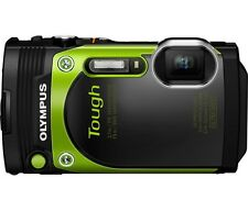Olympus TG-870 16.0 Megapixel Waterproof Digital Camera Green With Carring Case