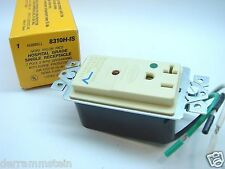 Hubbell 8310H-IS Hospital Spec Grade Single Outlet With Surge Protection 20A b92