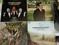 4 album record lot LP Del and Sue Smart Living Strings Ray Price Jim Nabors