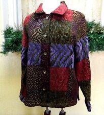 Coldwater Creek Geometric Chenille Tapestry Jacket L Multi Party Wear w/Slacks