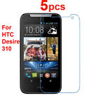 5 X CLEAR LCD Screen Protector Guard Cover Film Shield for HTC Desire 310 NEW