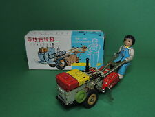 MS-857 Tracteur automate tôle Tractor wind-up tin clockwork vintage toy china
