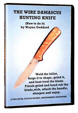 The Wire Damascus Hunting Knife with Wayne Goddard: How to Do It (DVD) / blade