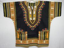 Men's Dashiki Shirts African Hippie Top 70s Vintage Blouse Boho Style Free Size