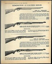 1968 REMINGTON 552 & 552 BDL Speedmaster, 572 Fieldmaster & 572 BDL Rifle AD