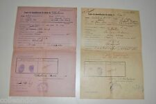 █ 2 doc 39-45 DOCUMENT DEMOBILISATION 1940 La creuse Haute-Saône ARTILLERIE █