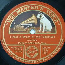 78rpm JOHN McCORMACK i hear a thrush at eve / at dawning