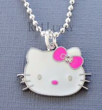 "Kid's Teen ball Dog Chain Necklace 18"" Pendant Pink Hello Kitty party s197"