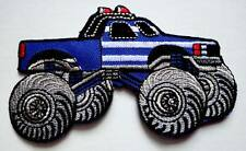 4x4 BIGFOOT TRUCK BLUE Embroidered Iron on Patch Free Postage