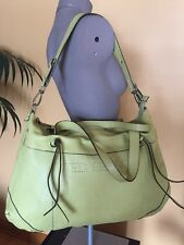 TED BENSON X Large Leather Hobo Tote Shoulder Duffle Bag Carryall GREAT!