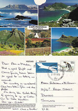 1995 MULTI VIEWS OF CAPE PENINSULA SOUTH AFRICA COLOUR POSTCARD