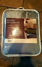 Natural Blanket BLUE Microfiber TWIN Bed Down & Feather Comforter