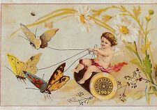 MERRICK THREAD ~ BUTTERFLY HARNESS & CHERUB, Ready Wound Bobbins, Victorian ADV.