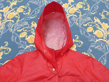 RUKKA of FINLAND PVC RUBBERISED COTTON MACKINTOSH MAC RAINCOAT JACKET 34 36 VTG