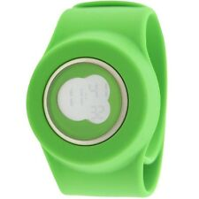 $110 Easy Slap On Fashion Cloud 9 Digital  Watch (green) Battery not included