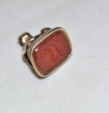 9ct Rose Gold (Tested) Carnelian Gents Seal Fob - A - 7g.