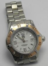 TAG HEUER WN1350 WOMENS PROFESSIONAL 18K GOLD BEZEL STAINLESS STEEL WATCH
