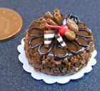 1:12 Scale Round Cake With Chocolate Icing Dolls House Miniature Accessory NC78
