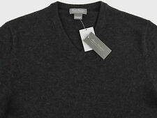 Men's DANIEL CREMIEUX Charcoal Gray Grey V-Neck CASHMERE Sweater S Small NWT NEW