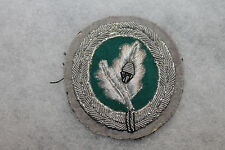 Original East German Army Jager Silver Bullion Uniform Badge w/Backing