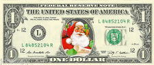 Santa Claus #1 Christmas {Color} Dollar Bill - REAL Money! Stocking Stuffer!