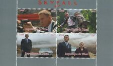 JAMES BOND 007 DANIEL CRAIG SKYFALL TCHAD 2015 MNH STAMP SHEETLET
