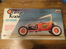 1977 Lindberg 1/8 Scale Motorized Orange Krate Hot Rod Model Kit New in Open Box