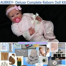 Reborn AUBREY Complete Beginner Starter DELUXE Kit Lot DVD, PAINTS, BODY, MOHAIR