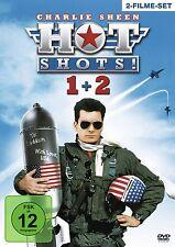 HOT SHOTS 1 + 2 (Charlie Sheen, Lloyd Bridges) 2 DVDs NEU+OVP