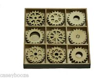 45 Wooden Shapes - Gears - Cogs - Steampunk - 0212 - New Out