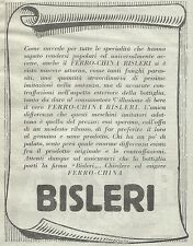 W7265 Ferro-China BISLERI - Pubblicità del 1932 - Old advertising