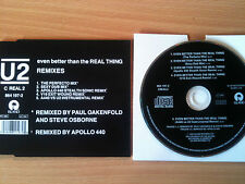 U2 ~'EVEN BETTER THAN THE REAL THING-REMIXES'~Rare UK CD Remix Single~CREAL2~NEW