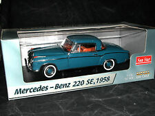 Sun Star 3561, Mercedes-Benz 220 SE Coupe, 1958, blau, 1/18 OVP