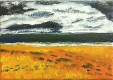 Portobello beach 2 edinburgh nigel waters original acrylique peinture toile signe