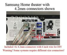 6 4.2mm speaker wire/cabe connectors/Plugs made for Select Samsung home theater