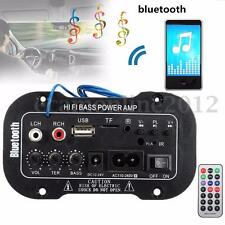 80W Car Truck Bluetooth Subwoofer Hi-Fi Amplifier Board Audio MP3 TF USB 12V/24V