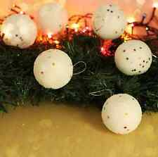 Christmas Snowball Balls Xmas Tree Hanging Decoration Party Ornaments 12PCS 4CM
