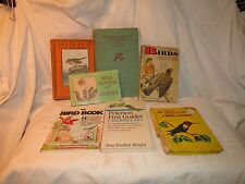 7 Book Field Guide Lot Vtg to Now - Peterson/MKC Scott/Flowers/Insects/Birds