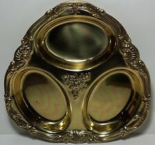 Vintage Soppil Wolff silverplated (gold color) Hors d'Oeuves tray.