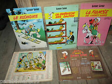 Vente lucky luke-Lot anciennes plaques émaillées(1997)+anciens calendriers(86-97