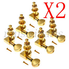 12R Guitar Tuners Gold Guitar String Tuning Pegs Tuners Machine Heads Set