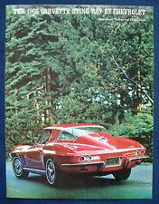 Prospekt brochure 1966 Chevrolet Chevy Corvette Stingray (USA)