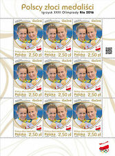 Fi 4738 MNH Full sheet Polish Gold Medal Winners Rio 2016 stamps Rowing