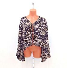 Winter Kate Womens Roque Cropped Bed Jacket Black Dots Size S
